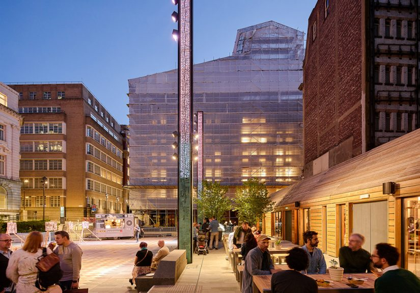 The Pilcrow Pub in NOMA, Manchester - designed by Northmill Associates with landscape design by Planit-IE